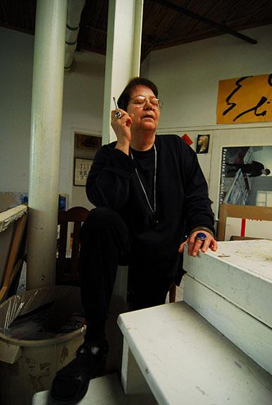 Francine Simonin dans son atelier de Montréal. Photo Julie Bourgeois