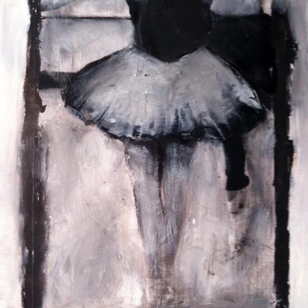 Dominique Payette, Pas à pas, technique mixte, 14 x 14 pouces