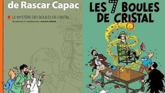 L'album, Les 7 boules de cristal, a été publié en 1948