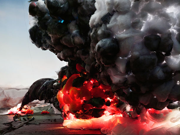 "Explosion with Road, 2012, Chromogenic print, 55"" x 40"". Edition 4"