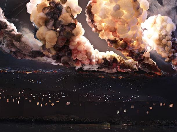"Night Explosion, 2013, chromogenic print, 55"" x 40"", Edition 4"