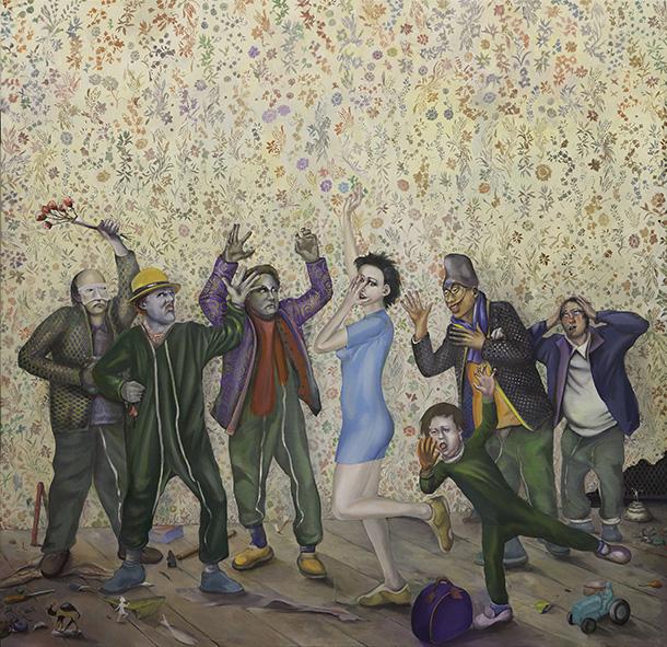 Poissons d'avril, 2007 Acrylique sur toile Peinture 259 x 300 cm Pinault Collection Photo : Arthus Boutin © Adagp, Paris 2014