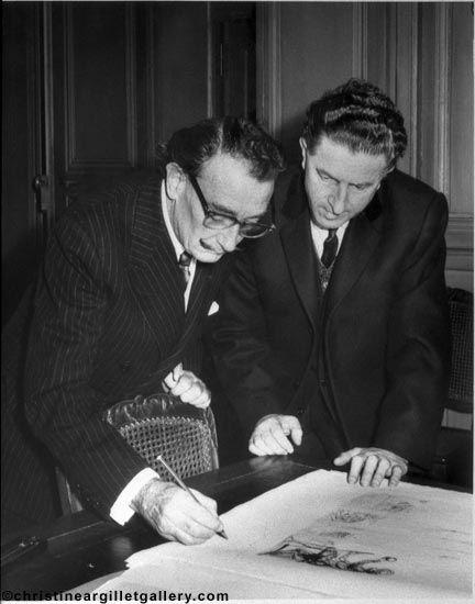 Salvador Dali et Pierre Argillet