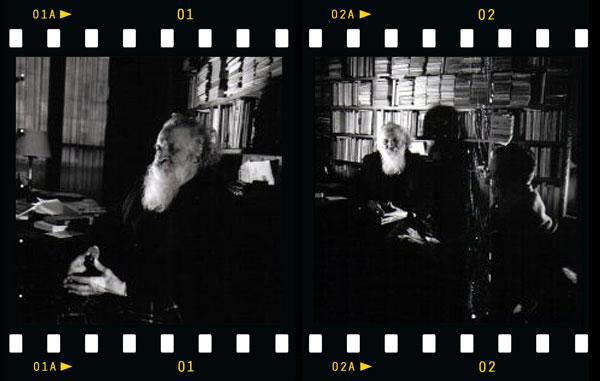 Gaston Bachelard photographié par Pierre Argillet. Source, Galerie Furstenberg, Paris