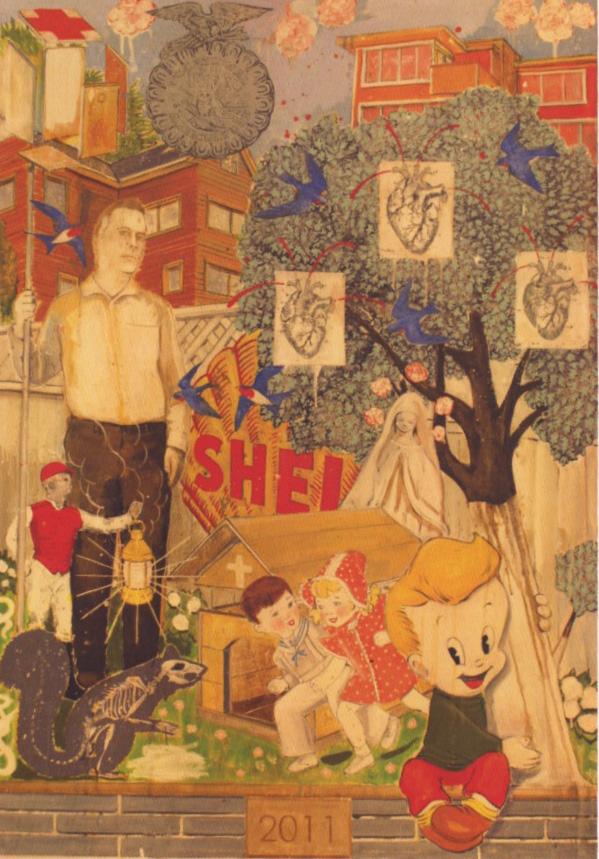 Steven Orner, 2011, Madonna of the Half-shell, huile sur toile, 46 x 36 po