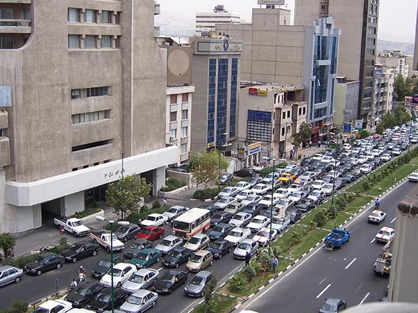 L'avenue Vali Asr, à Teheran