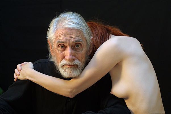 Gilles Carle et sa compagne Chloé Sainte-Marie photographiés par Pierre Dury