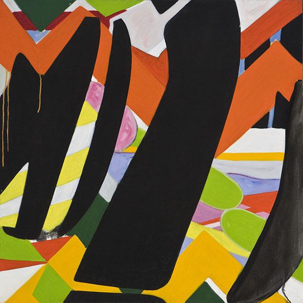 Guy Montpetit, Série Transition, Z 68, 1966-1967, huile sur toile, 33 x 33 pouces