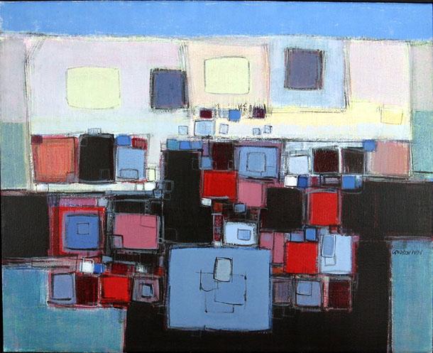 Pierre Gendron, Paysage bleu, 1974, 25 x 30 pouces