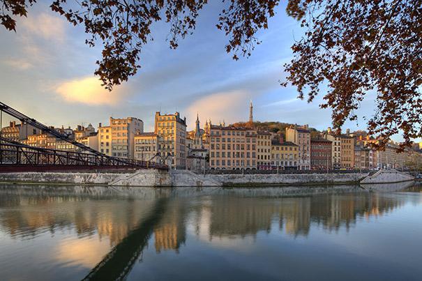 La passerelle Saint-Vincent. Photo, Tristan Deschamps / Lyon Tourisme et congrès