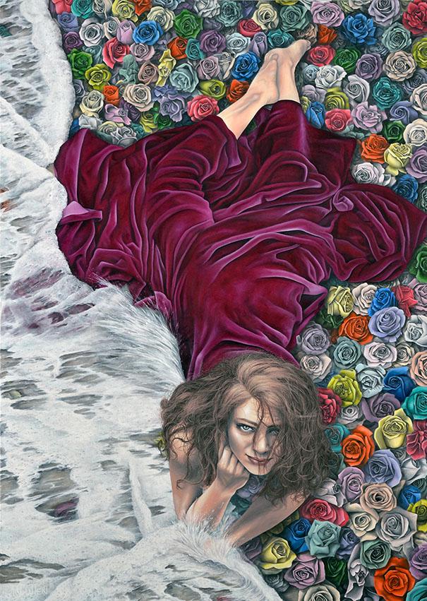 Eau de rose, huile sur toile, 172,72 x 121,92 cm