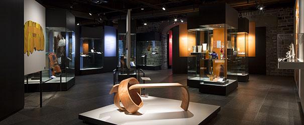 Vue d'ensemble de la zone Arts visuels, la conclusion de l'exposition
