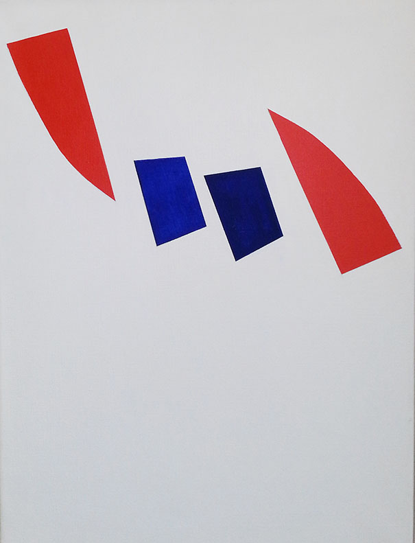 Brisant le moule, 1962, Acrylique sur toile, 61 x 45.7 cm, Photo Daniel Roussel