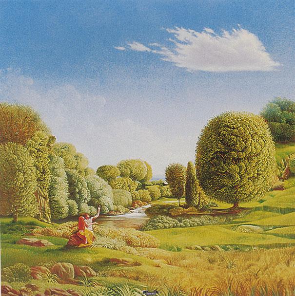 Pégase, huile, 1977, 18 x 18 cm