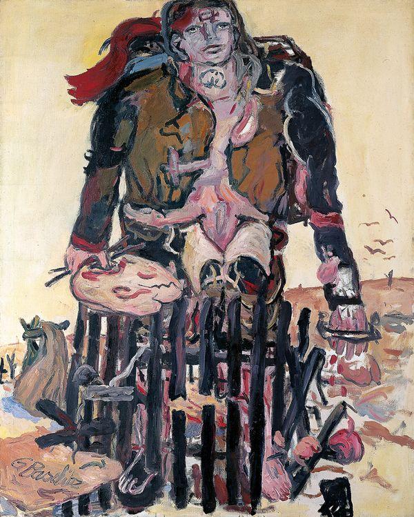 GEORG BASELITZ Verschiedene Zeichen, 1965 Öl auf Leinwand  162.5 x 130.0 cm Fondation Beyeler, Riehen/Basel, Sammlung Beyeler