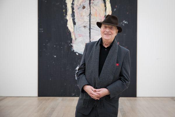 Georg Baselitz à la Fondation Beyeler en février dernier. Photo, Fondation Beyeler