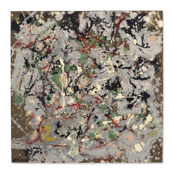 Jackson Pollock, Numéro 21, 1950, 22 x 22 pouces