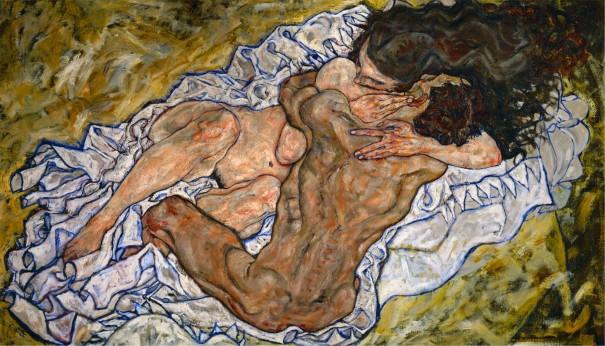 Egon Schiele (1890-1918), L'étreinte, 1917