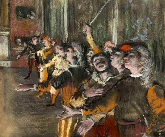 Les Choristes (Les figurants), estampe monotype rehaussée au pastel, 1877, Musée d'Orsay, Paris