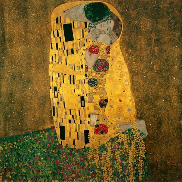 Gustav Klimt 1862-1918, Le baiser, 1907-1908