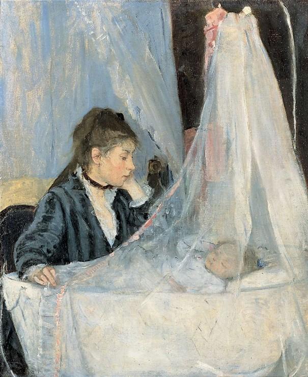 Berthe Morisot (1841-1895) Le berceau, 1872 Huile sur toile H. 56 ; L. 46 cm