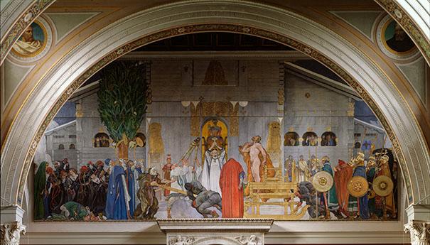 Le Temple d'Uppsala par Carl Larsson (Midvinterblot, 1915).