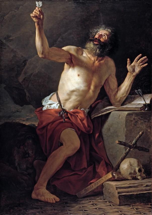 Saint Jérôme, 1779, huile sur toile de Jacques-Louis David (Paris 1748 – Bruxelles 1825)