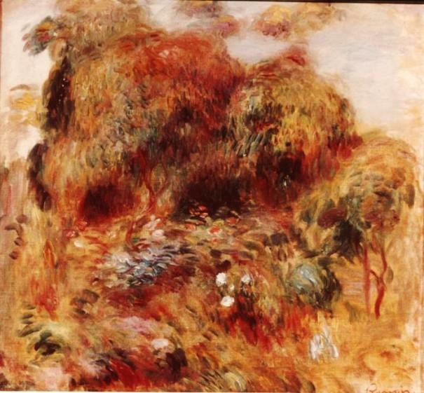 """Pierre-Auguste Renoir, """"Le jardin,"""" or """"Paysage avec arbres et fleurs"""""""