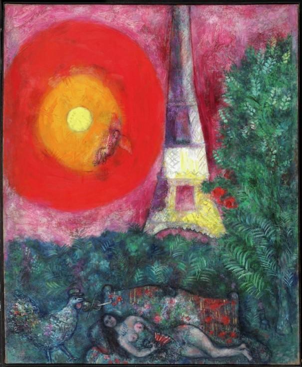 Marc Chagall, «La tour Eiffel», 1929. Huile sur toile, 100 x 81,8 cm