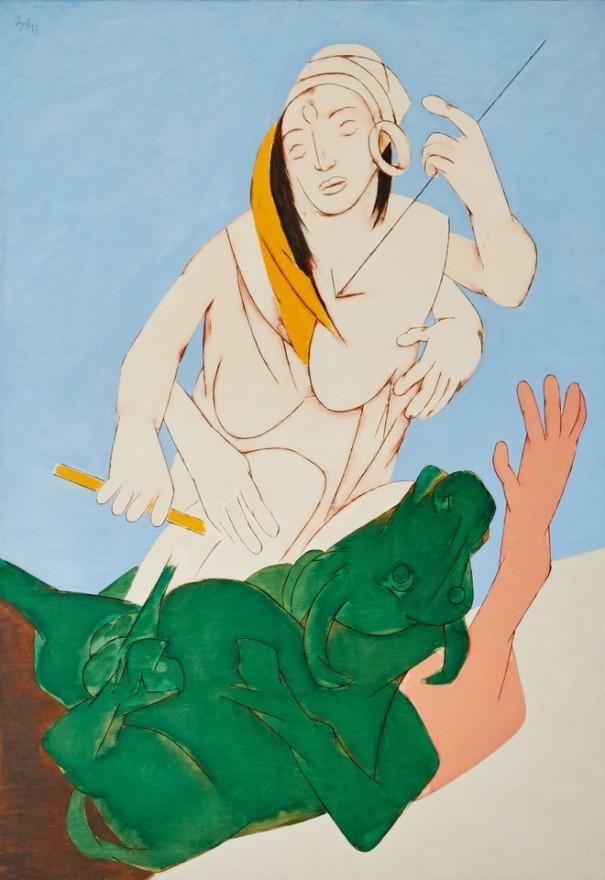 Tyeb Mehta, (1915-2011), Durga Mahisasura Mardini, 1993. Image de Sotheby's