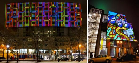 Color rythmetic, de Christo Guelov, projeté Place de la paix dans le cadre de, McLaren, Mur à mur en 2014