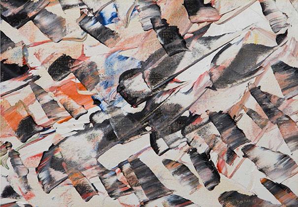 Dents de sable à cran d'acier ou Le langage des sources 1947 Huile sur toile marouflée sur panneau, signée et datée dans la matière en bas à droite ; signée, titrée et datée au dos, 30,5×40,7 cm/12×16 pouces