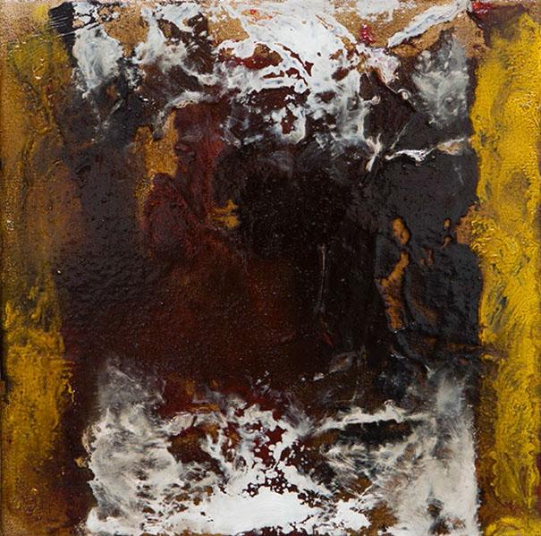 Jean Albert McEwen 23 Compagnon de silence M5, 1973, Huile sur toile, signée, titrée et datée au dos, 30,5×30,5 cm/12×12 pouces