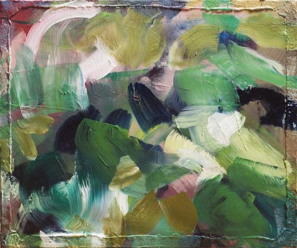 Morgan Everhart Essence and Surface, 2018 huile sur toile 20 x 30 pouces